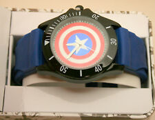 Marvel Comics Captain America Shield Accutime Watch Men's New NOS Box