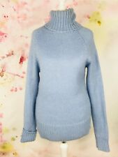 Christmas Mohair Jumper Baby Blue High Neck XS will also fit Small Knit Cubus b3
