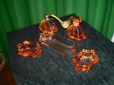 Set da toilette in vetro degli anni 40'-50' -n.5 pezzi