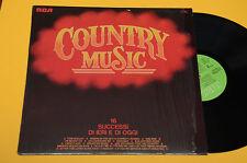LP 16 SUCCESSI COUNTRY MUSIC 1°ST ORIGINALE NM MAI SUONATO ! AUDIOFILI