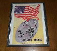 1945 STEELERS vs EAGLES  FRAMED COLOR PROGRAM PRINT