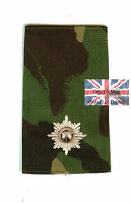 PAIR DPM Irish Guards 2nd Lieutenant RANK SLIDES (Foot
