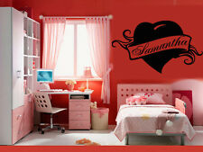 Wall Stickers Vinyl Decal Samantha Personalized Name Lettering Custom z984