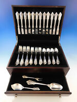 Grande Baroque by Wallace Sterling Silver Flatware Set for 12 Service 51 Pieces