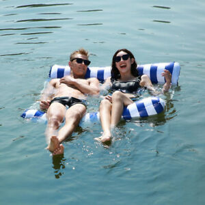 2021 Water Hammock Recliner Inflatable Floating Swimming Mattress Pool Party Bed
