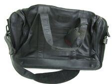 Mens Tumi Overnight Weekender Travel Bag Black Leather