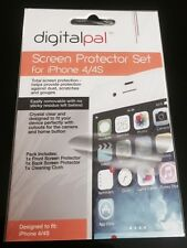 NEW iPhone 4 or iPhone 4S FRONT & BACK Screen Protector Set WITH CLEANING CLOTH