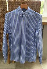 POLO RALPH LAUREN Blue/White Stripe Long Sleeve Button Down Shirt Size Large L