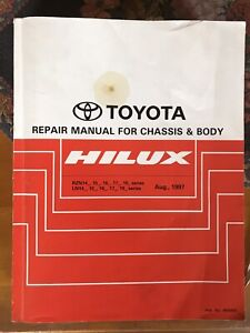 Toyota Repair Manual For Chassis & Body  Hilux  Aug 1997
