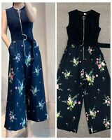 AUTH Ted Baker BIRGIIT Front zip belted jumpsuit Navy, Ted Size: 0-4