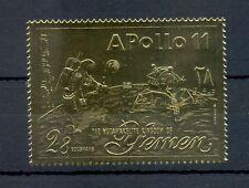 ARABIA YEMEN GOLD FOLIE STAMP = SPACE-APOLLO 11 --** MNH VF @3