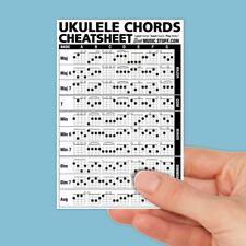 """Ukulele Chords Cheatsheet Pocket Reference (Laminated & Double Sided) 4""""x6"""""""