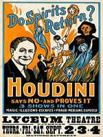 ART PRINT POSTER VINTAGE ADVERT THEATRE SPIRITS HOUDINI NOFL1439