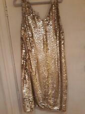 Gold and white sequin dress, Peacock's, size 14