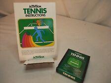 Tennis (Atari 2600, 1981) With manual Nice label