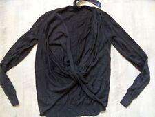 DESIGUAL bellissimo Pullover Nero megaschnitt TG S Merce Nuova kos817