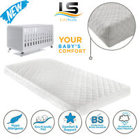 Baby Toddler Cotbed Mattress Breathable Foam Waterproof Extra Thick 140x70x13