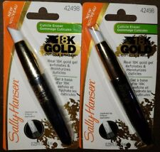 Sally Hansen 18K Gold Gel Cuticle Eraser Exfoliates & Moisturizes, Lot of 2