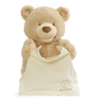 Gund My First Teddy Peek a Boo Plush 26cm - Baby Pink or Blue or Beige