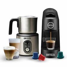 Coffeeza Finero Next Coffee Making Machine & Milk Frother Combo (black)