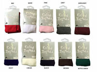 Children's Girls Cotton Rich School Nifty Tights Ages 3-13 year Various colours
