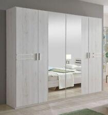 """Kleiderschrank """"Peanuts"""", Schlafzimmer Weiss NB Spiegel 4 Türen 225x210x58 cm"""