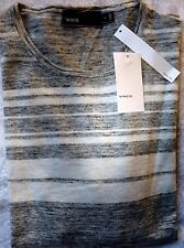 New VINCE Pull Over Sweater Grey Wool Blend Shirt - Size Small $195.00