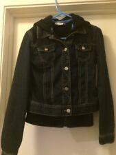 Nice Denim Jacket With Built In Hoodie, Size Medium