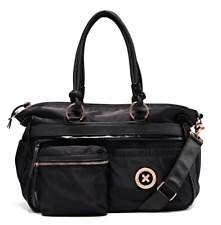 MIMCO BLACK SPLENDIOSA BABY BAG Rosegold Hardware NAPPY Authentic BNWT RRP299