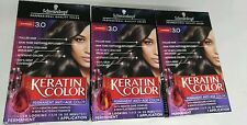 3 Boxes of Schwarzkopf Professional Quality Color 3.0 Espresso Free Shipping