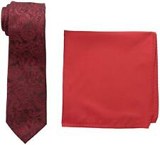 Nick Graham Everywhere Men's Plaid Neck Tie with solid Pocket Square