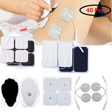 40Pcs Electrode Pads Patches Gel Carbon Electrodes Replacement for TENS / EMS IF