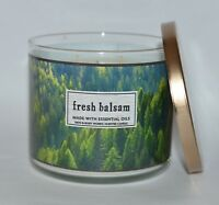 BATH & BODY WORKS FRESH BALSAM SCENTED CANDLE 3 WICK 14.5OZ LARGE FOREST PINE