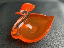 Vintage 1950 Murano/Venetian Art Glass Swan/Cockerel Candy Dish/Bowl Paperweight