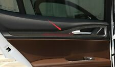 Carbon Fiber Style Interior Door decorative panel For Alfa Romeo Stelvio 17-2019