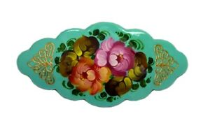 Barrette Hair Clip Russian Hand Painted #0939
