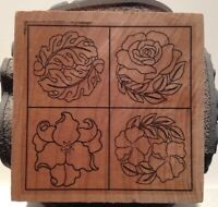 Heather's Stamping House - Flower Block - 4 Images on a Cube