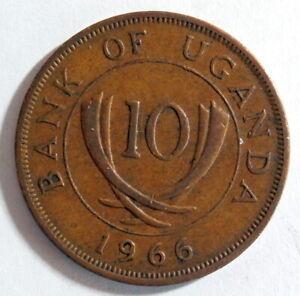 UGANDA 1966 - 10 Cents
