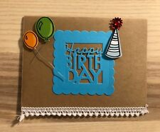 Handmade pack of 3 Birthday cards with matching envelopes