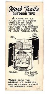 Mark Trail Original Art By Ed Dodd Outdoor Tips- Traveling With Minnows