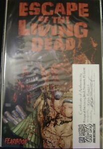 ESCAPE OF THE LIVING DEAD FEARBOOK 1 AVATAR GORE COMIC SIGNED JOHN RUSSO 2006 NM