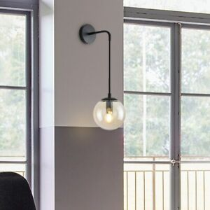 Industrial Nordic Style Glass Ball Loft Wall lamp Modern LED Light Cafe Bar Lamp