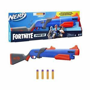 NERF Fortnite Pump SG Blaster -- Pump Action 4 Mega Darts Feb.8,21 New