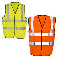 Hi Vis Vest Yellow | Orange Hi Vis Visibility Viz Reflective Safety Vest EN471