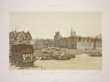 HOFF005  Paris Seine Hotel ville 1583 place de Grève port au foin moulin Hugues