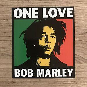 "Bob Marley One Love 4"" Tall Vinyl Sticker - BOGO"