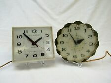 Vintage General Electric kitchen Clocks works lot of 2 mid century wall clock