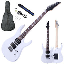 New Beginner Practice 6 Strings Right-Handed Electric Guitar Set White