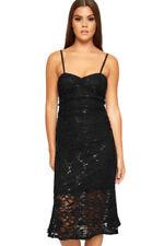 Vestidos de mujer de color principal negro de poliamida talla 40
