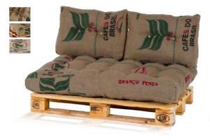 Euro Palettenkissen Palettenpolster aus 100% Kaffeesäcken / Jute